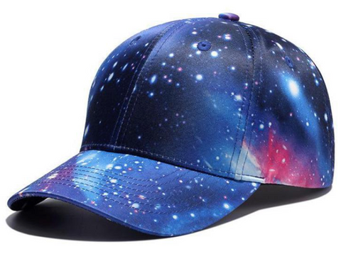 Galaxy Print Peak Cap - Paw Prints & Curly Tails