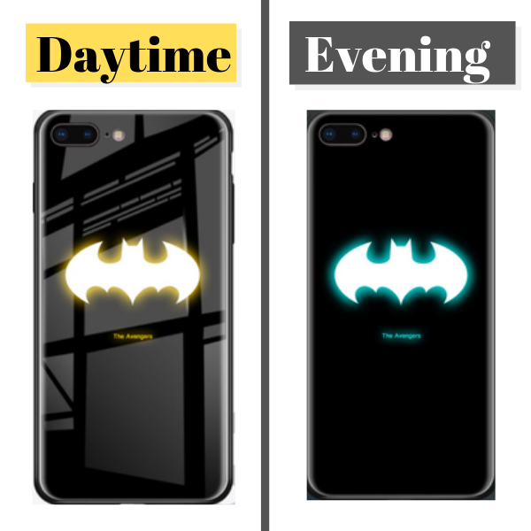 Luminous Superhero Phone Cover for iPhone 7 & 8 - Paw Prints & Curly Tails