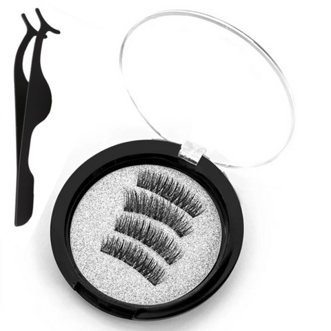 3D Magnetic Reusable Eyelashes with Applicator - 3 Magnets - Paw Prints & Curly Tails