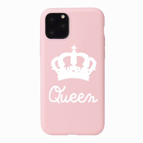 """Queen"" Silicone Phone Case for iPhone 11 - Paw Prints & Curly Tails"