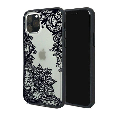 Floral Lace Henna Cover for iPhone 11 - Paw Prints & Curly Tails