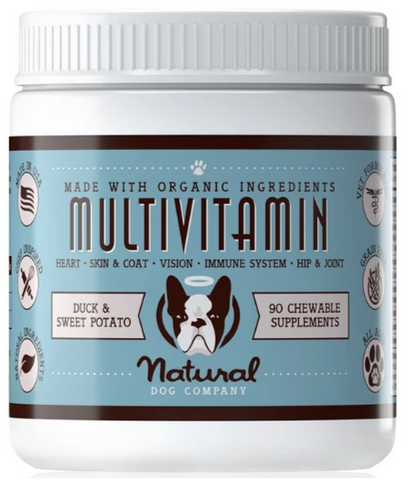 Natural Dog Co Multivitamin Supplement - Paw Prints & Curly Tails