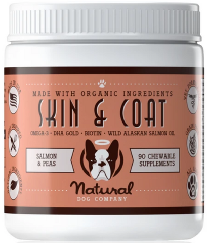 Natural Dog Co Skin & Coat Supplement - Paw Prints & Curly Tails