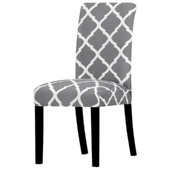 Stylish Elasticated Dining Room Chair Cover (Set of 2) - Various Designs - Paw Prints & Curly Tails