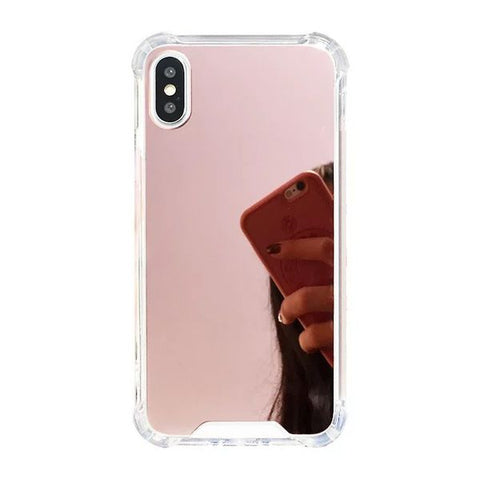 Mirror Back Phone Case for iPhone XR - Paw Prints & Curly Tails