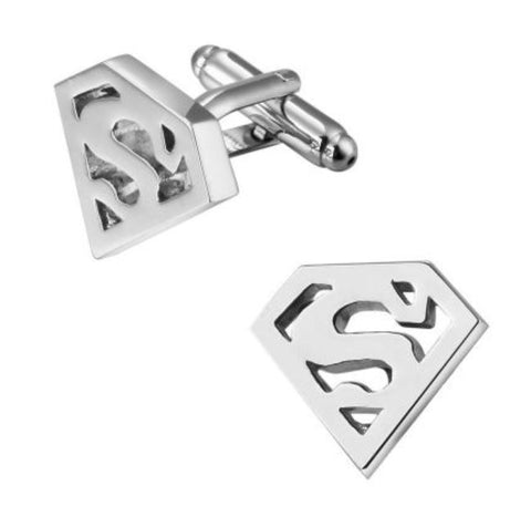 Silver Superman Cufflinks - Paw Prints & Curly Tails