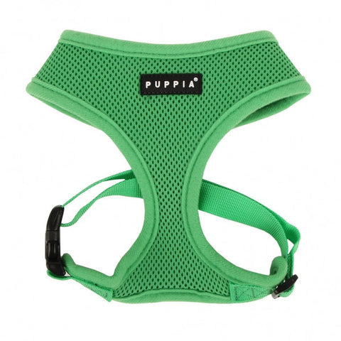 Green Puppia Dog Harness - Paw Prints & Curly Tails