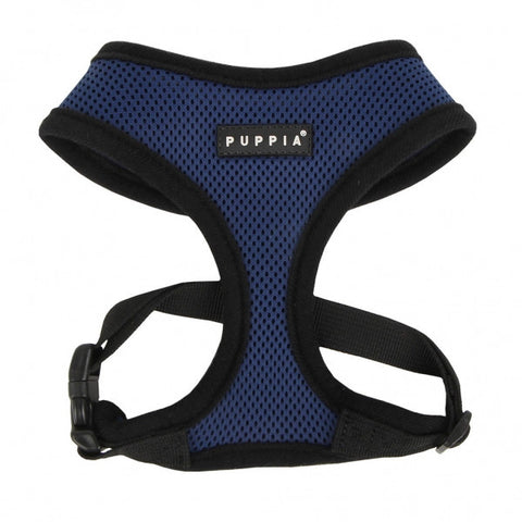 Navy Blue Puppia Dog Harness - Paw Prints & Curly Tails
