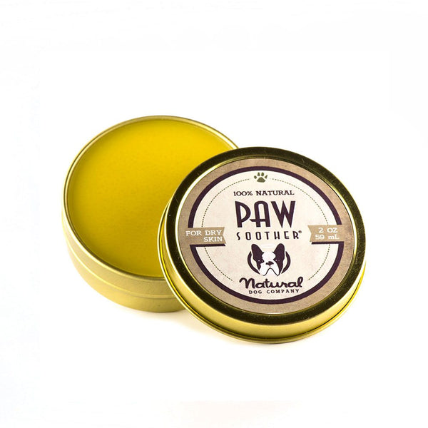 Natural Dog Co Paw Soother Balm - Tin - Paw Prints & Curly Tails