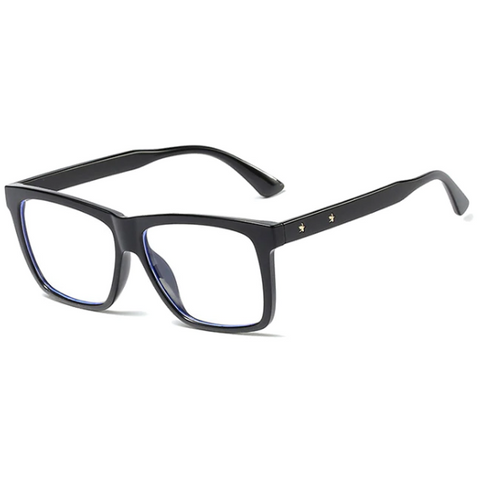 Stylish Statement Frame Anti-Blue Light Glasses - Paw Prints & Curly Tails