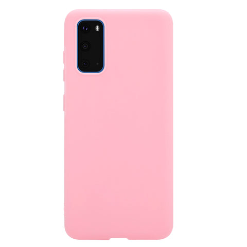 Soft & Smooth Silicone Phone Cover for Samsung Galaxy S20 - Paw Prints & Curly Tails