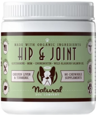 Natural Dog Co Hip & Joint Supplement - Paw Prints & Curly Tails