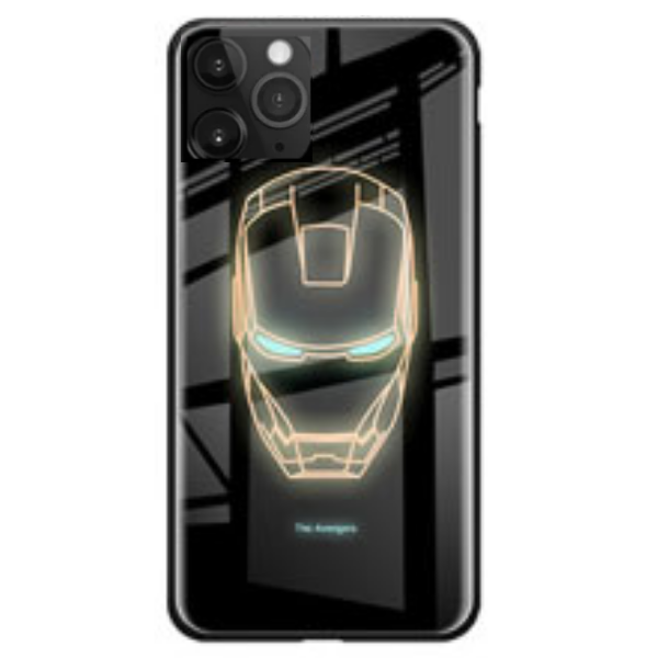 Luminous Superhero Phone Cover for iPhone 11 PRO - Paw Prints & Curly Tails