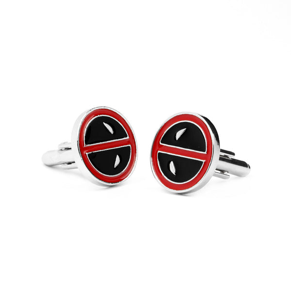 Deadpool Superhero Cufflinks - Paw Prints & Curly Tails