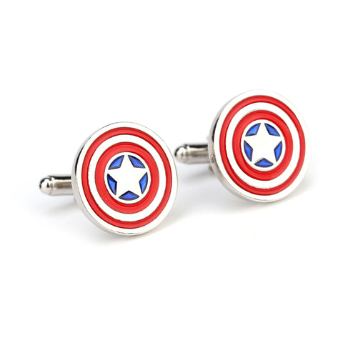 Captain America Superhero Cufflinks - Paw Prints & Curly Tails