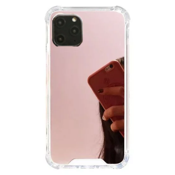 Mirror Back Phone Case for iPhone 11 - Paw Prints & Curly Tails