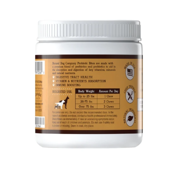 Natural Dog Co Probiotic Supplement - Paw Prints & Curly Tails