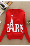 Long Sleeve Paris Printed Sweatshirt