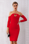 Bodycon Dress Long Sleeve Off Shoulder