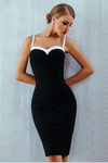 Heart For You Black White Bodycon Dress