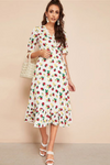 Sweet Me Strawberry Print Wrap Dress