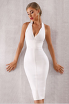 Bodycon Dress Halter V Neck