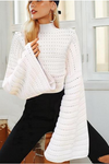 Hollow Out Batwing Sleeve Sweater