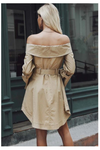 Sexy Off Shoulder Elegant Trench Coat