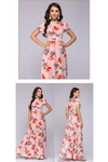 Long Elegant Floral Print Dress
