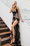 Elegant Side Slit Sequin Party Dress