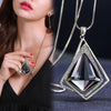 Long Geometric Necklace & Pendant Statement Piece Jewelry