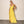Yellow Ruffle Chiffon Bodycon Maxi Dress