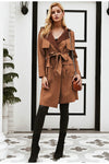 Luxurious Suede Trench Coat