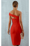 Red Bodycon One Shoulder Bandage Dress