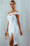 White Bodycon One Shoulder Bandage Dress