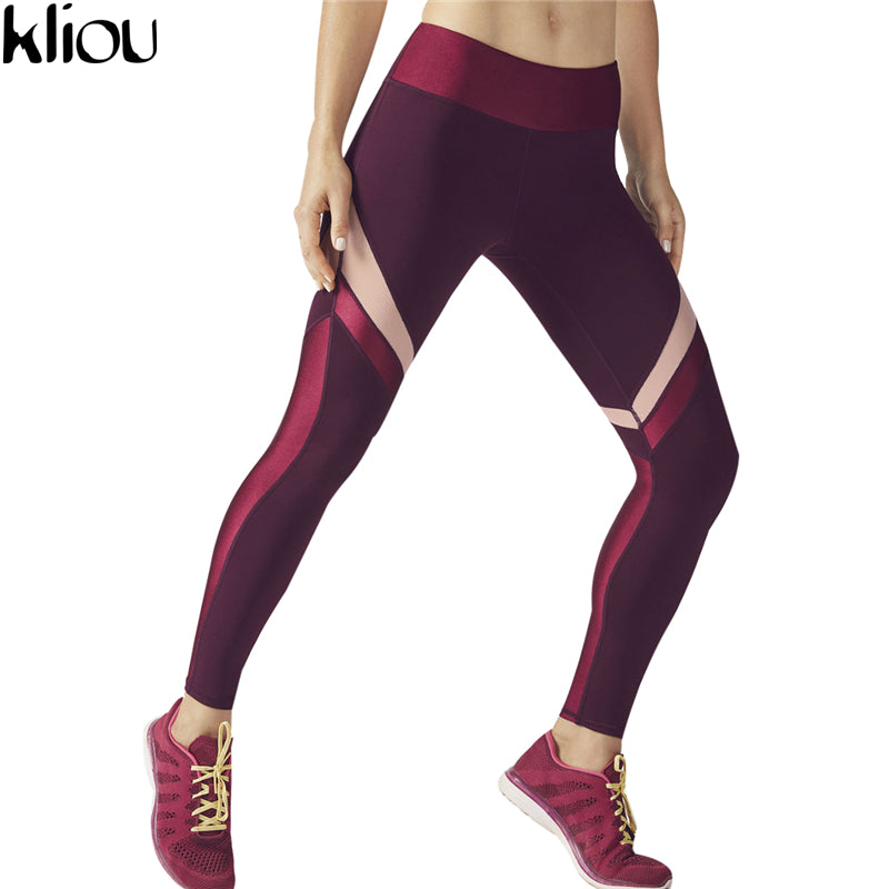 Wine Red Push Up Leggings