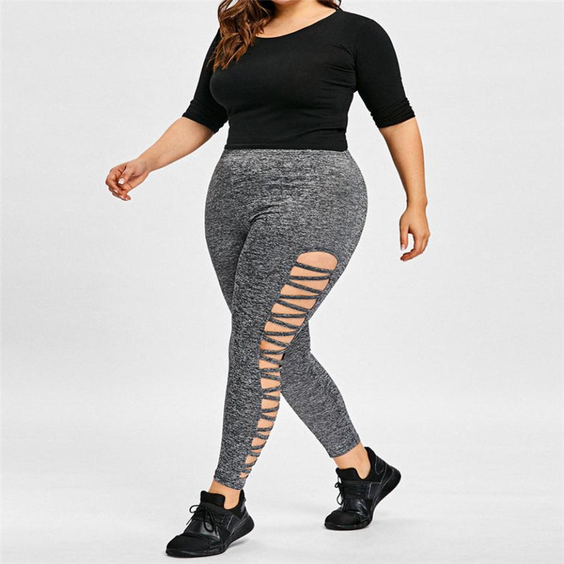 Hollow Plus Size Leggings