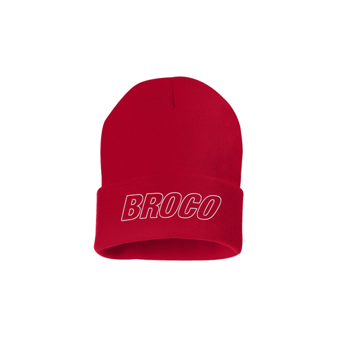 Red Broco Beanie