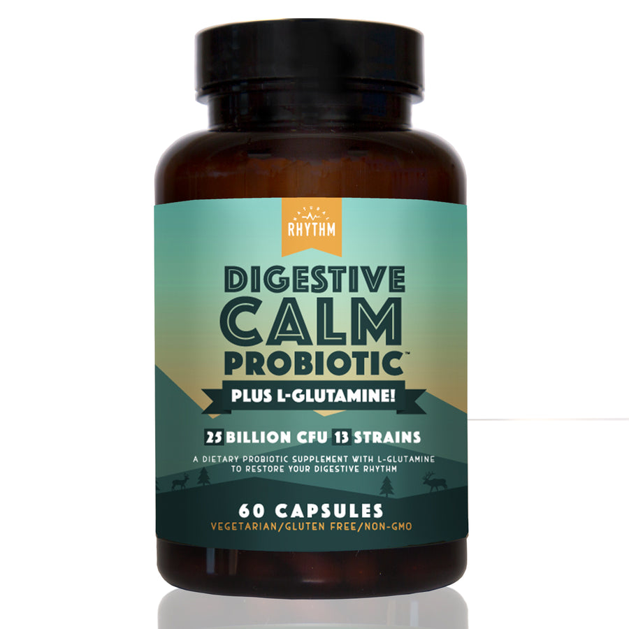 Digestive Calm Probiotic (Plus L-Glutamine) - 25 Billion CFU 13 Unique Strains for Better Digestion