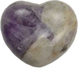 Amethyst, Chevron Heart,1 3/4""