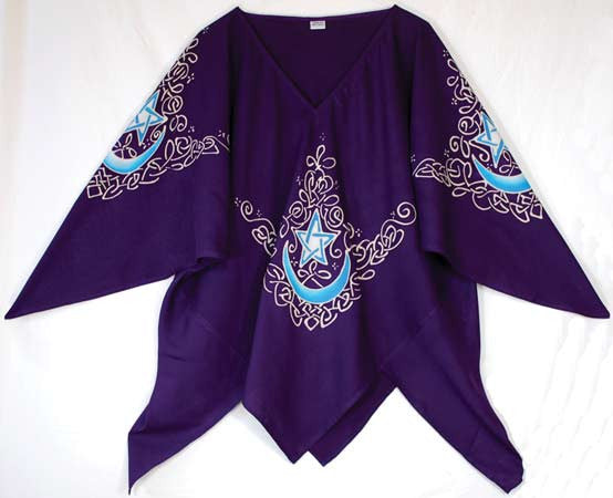 Celtic Moon Large Top purple