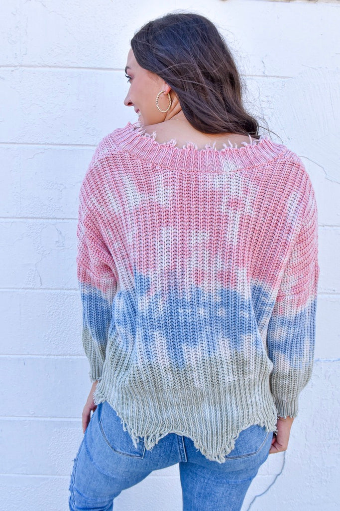 The Cleo Sweater - Pink Dust