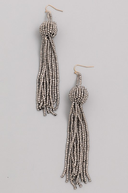 The Clarissa Earring- Grey