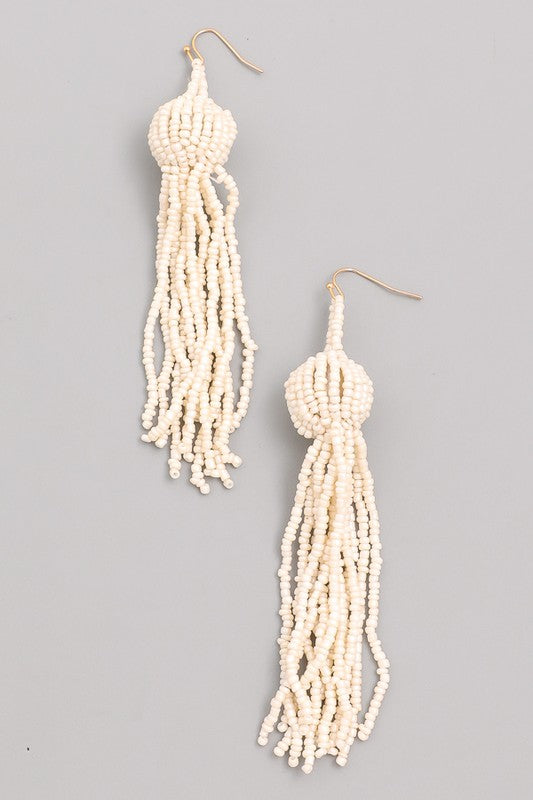 The Clarissa Earring- Ivory
