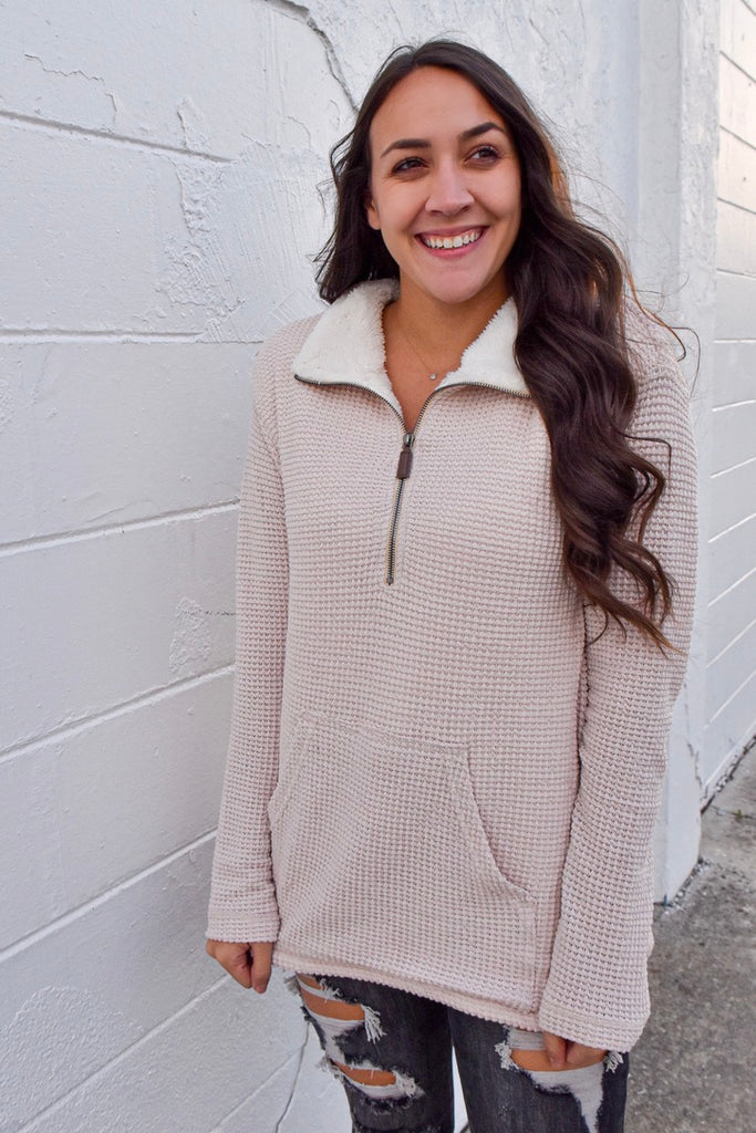 Sugar Cookie Faux Fur Pullover