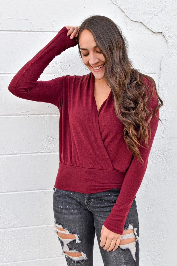 That's So Fetch Top- Burgundy
