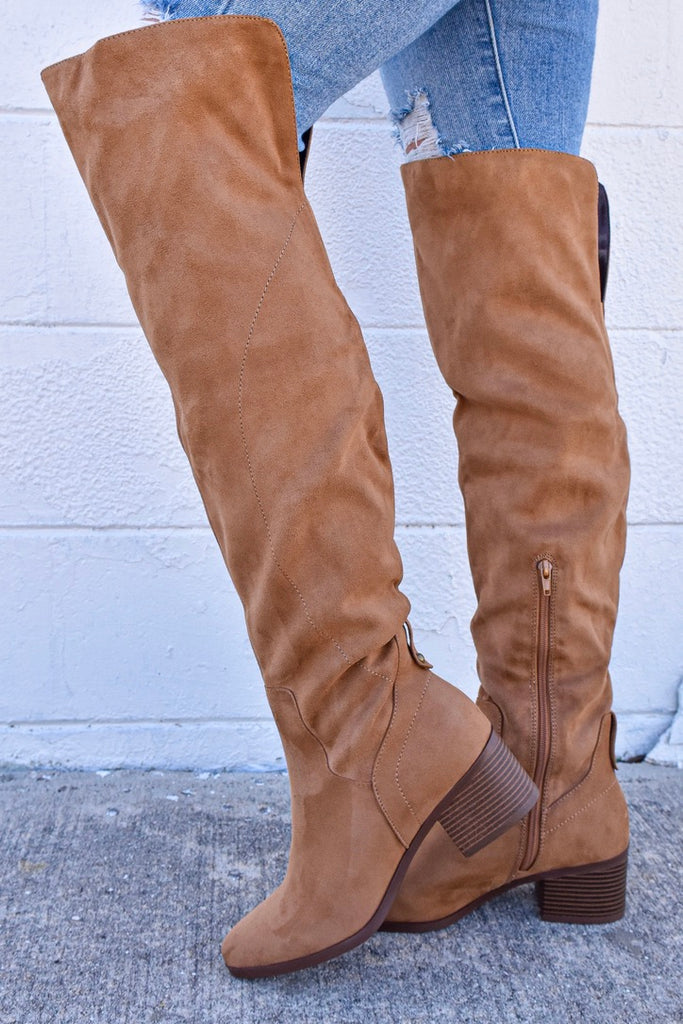 The Holly Boots - Chestnut - Vogue Society