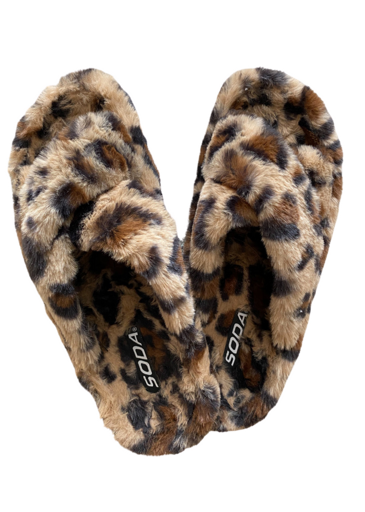 The Cozy Slipper- Leopard