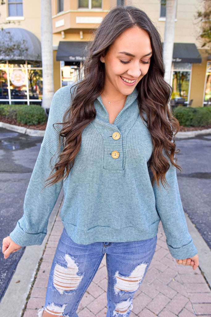 Teagan Sea Blue Sweater