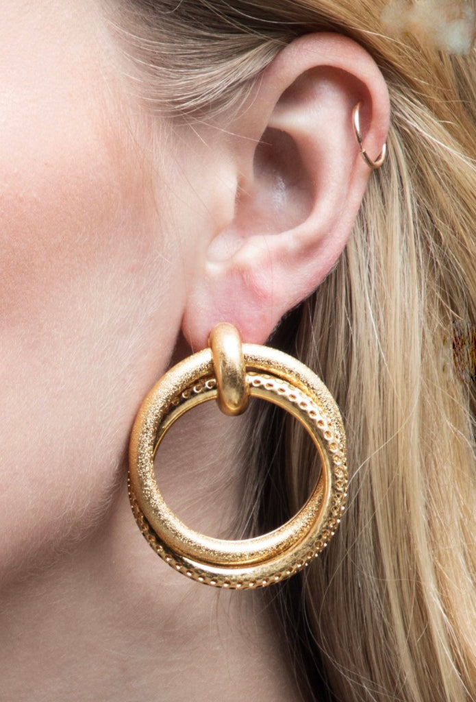 The Twilight Gold Earring